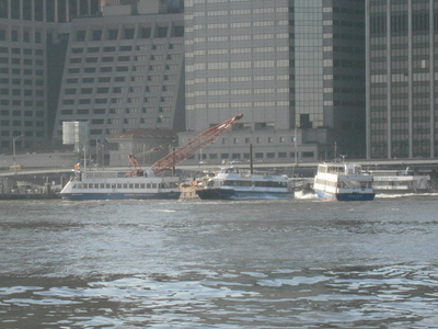 Ferries At Landing