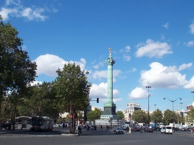 View Of Place De La Bastille
