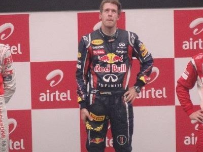 Podium Winners Of  2 0 1 1  Indian  Grand  Prix