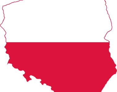 Poland Map Flag