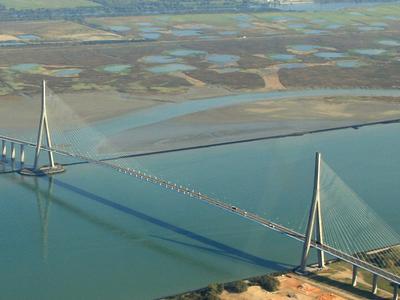 The Pont De Normandie Over The Seine