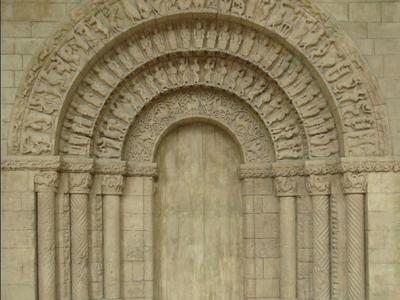 Portail Eglise Saint  Pierre Aulnay De Saintonge