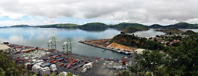 Panorama Overlooking The Port