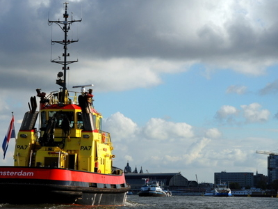 A Tugboat Of The Port Of Amsterdam