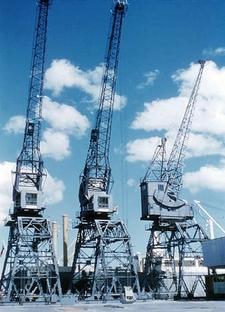 Ports Of Auckland Jellicoe Cranes