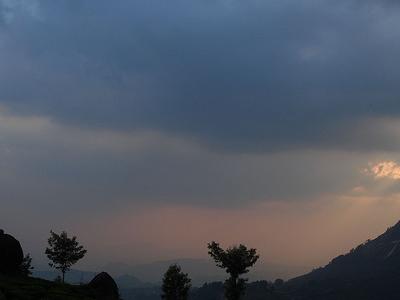 Pothamedu View Point Sunset Beauty