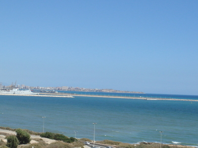 Panoramic View Of Alicante Port's New Extension