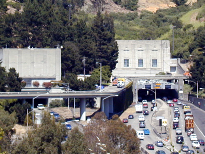 The Caldecott Tunnel, Western End