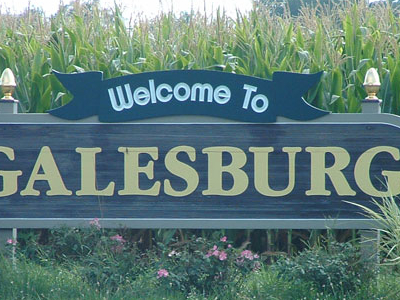Quotwelcome To Galesburgquot Sign