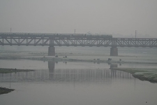 Rail Bridge Over Yamuna River