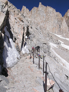 Railings On The Mount Whitney Trail Switchbacks