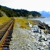 Railroad At Turnagain Arm - Seward Highway AK