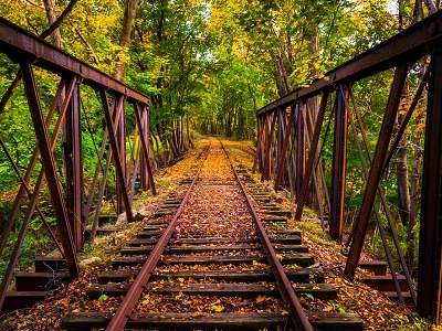 Railroad Tracks Near Stewartstown - Pennsylvania