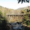 Railroad Bridge Over The Deerfield River Between Monroe And Rowe