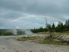 Rainbow Over Spasm Geyser