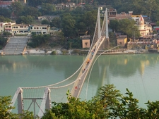 Ram Jhula Bridge Across The Ganges At Muni Ki Reti, Built In The