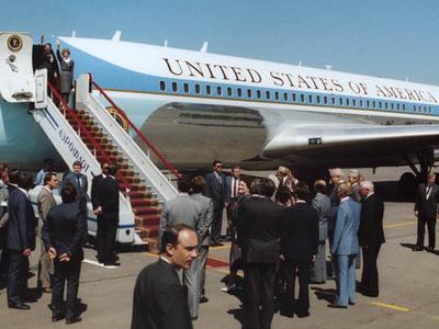 US President Ronald Reagan At Vnukovo