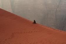 Red Sand Dune At Wadi Rum - Jordan