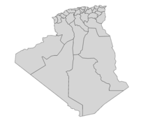 Regional Map Of Algeria
