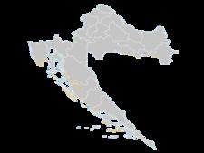 Regional Map Of Croatia