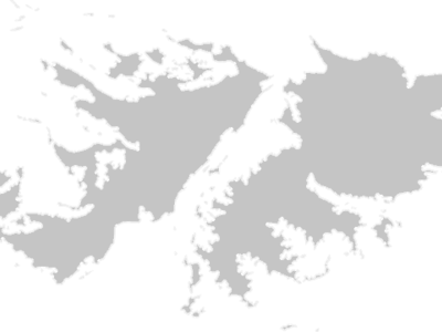 Regional Map Of Falkland Islands (Islas Malvinas)