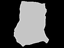 Regional Map Of Ghana