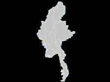 Regional Map Of Myanmar