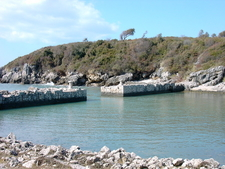 Remains Of The Ancient Roman Port In The Gianola Park.