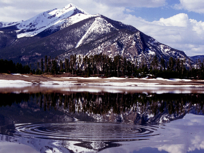 Reservoir In The  Rocky  Mountains