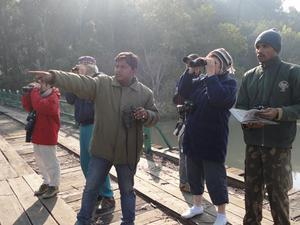 Resort Guests On Safari