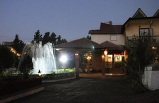 Resort Water Fountains In The Night