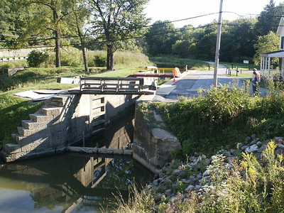 Restored Ohio & Erie Canal Lock