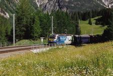 RhB Train Near Preda