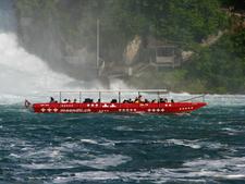 A Tourist Boat Near The Rhinefall