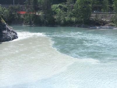 Rhein  Zusammenfluss