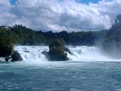The Rhine Falls Seen From The Rhine