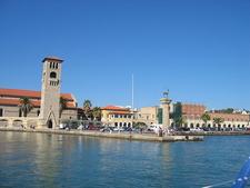 Rhodos Alter Hafen Einfahrt