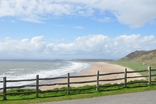 Rhossili Bay & Beach From Trail Wales UK