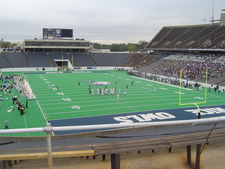 Interior View Of Rice Stadium
