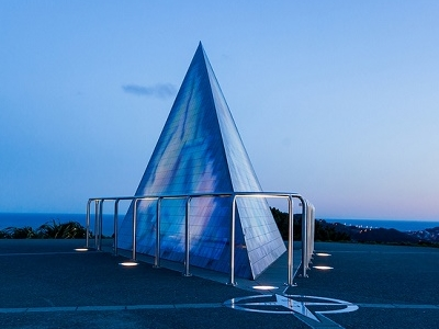 Richard Byrd Memorial On Mount Victoria @ Wellington NZ
