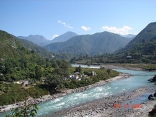 River Flowing Near Kausani