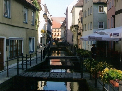 River  Iller In  Memmingen