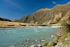 River Inside Mount Aspiring National Park - South Island NZ