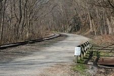 Road Along Heritage Rail Trail - York County Pennsylvania