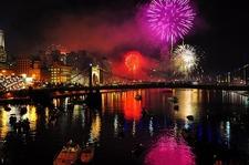 Roberto Clemente Bridge - Celebrations At Night - Pittsburgh PA