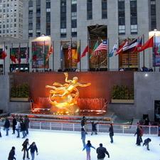 Lower Plaza Of Rockefeller Center