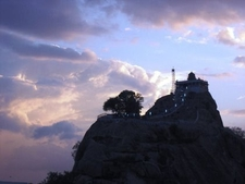Rock Fort At Night