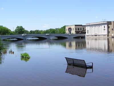 Rock River Flood  Ft Atkinson