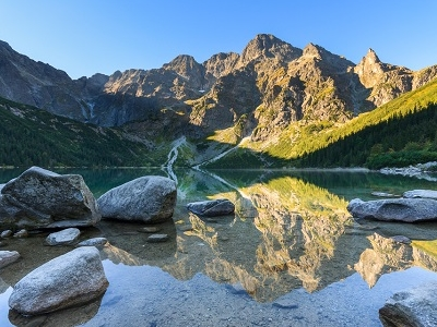 Rocks Sunrise Mountain - High Tatras