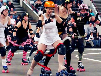 Roller Dolls At Denver Coliseum CO
